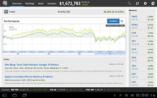 Screenshot of Wikinvest Portfolio HD
