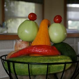 veggie basket by Doyle Barnes - Food & Drink Fruits & Vegetables ( food, art, veggies )