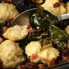 Collard Greens with Dumplings