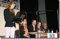 Marta Sendarrubias, titular municipal de Cultura, dirige unas palabras a los presentes.