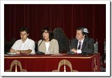 De izquierda a derecha, Ignacio Mosqueda, técnico de la Delegación provincial de Medio Ambiente; Inés Alba, titular de dicho departamento y Vicente de Gregorio, alcalde.