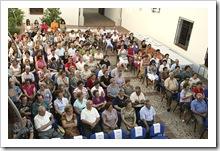 Aspecto que ayer tarde presentaba el Patio de los Laureles del Centro Cultural 'Casa de la Marquesa'.
