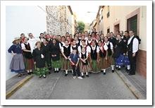 Integrantes de 'Balálita', en los prolegómenos del festival el pasado año.
