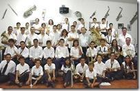 Integrantes de la Banda de la Escuela Municipal de Música.