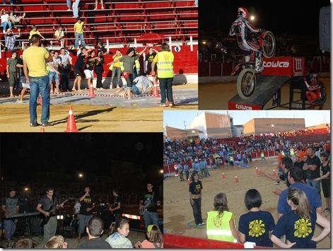 Varios de los momentos de las actividades del Día de las Peñas.