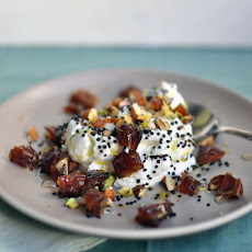 Yogurt with Toasted Quinoa, Dates, and Nuts