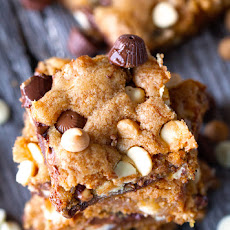 Loaded Quadruple Chip Cookie Bars
