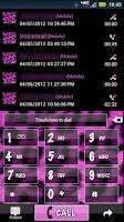 Screenshot of Go Contacts Pink Cheetah Theme