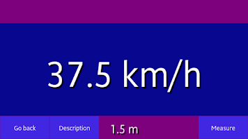 Screenshot of The speed measurement