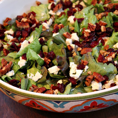 Mixed Green Salad with Apple Cider Vinaigrette