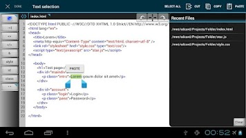 Screenshot of WebMaster's HTML Editor  Lite