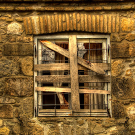 Window of a bygone era by Sergios Georgakopoulos - Buildings & Architecture Other Exteriors ( hdr, window, wall,  )