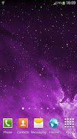Screenshot of Galaxy Parallax Live Wallpaper