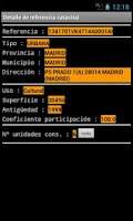 Screenshot of SIDCAT (Información Catastro)