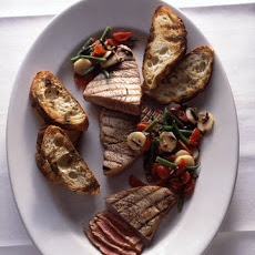 Grilled Tuna with Mediterranean Chopped Salad