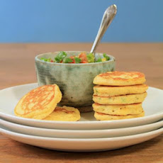 Jalapeno Corn Cakes With Avocado Salsa