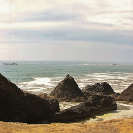 seal rock panorama by Ryan Chornick - Landscapes Caves & Formations (  )