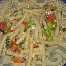Pasta With Green Soybean Salad