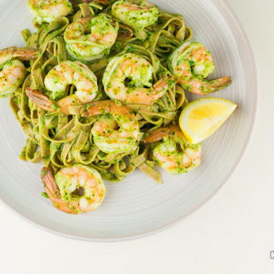 Pesto Pasta with Shrimp