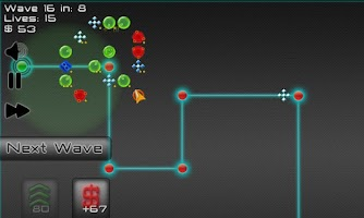Screenshot of Robot Defense: Maze it!