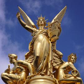 Opera by Don Teachout - Buildings & Architecture Statues & Monuments ( paris, statue, arts, opera, france, golden,  )