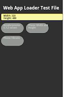 Screenshot of Web App Loader