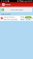 Screenshot of Air Canada