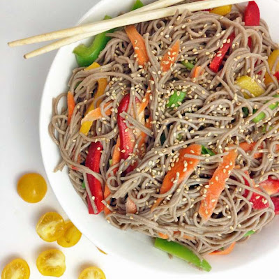 Soba Noodle Salad with Rice Wine Vinegar Dressing