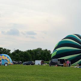 Preparing for Takeoff by Tarea J Roach-Pritchett - Transportation Other ( balloon festival, festival, balloons, hot air balloons, fair,  )
