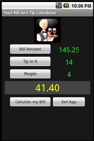 Your Bill Tip Calculator