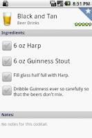 Screenshot of Bartender Buddy