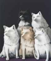 Hunde, 2010, acrylic on canvas, 120 x 100 cm