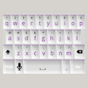 White and Purple Keyboard Skin icon