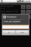 Screenshot of SecureNotes