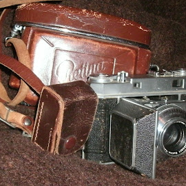 Old Camera by Nibia Orona - Artistic Objects Antiques ( used camera, old, retina camera, camera, antique camera, used, antique, photography,  )