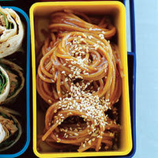 Cold Ginger, Soy and Honey Sesame Noodles