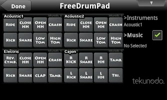 Screenshot of FreeDrumPad for Android