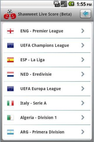 shawweet-football-soccer-live for android screenshot