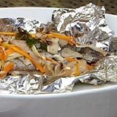 Foil Barbecued Trout with Wine