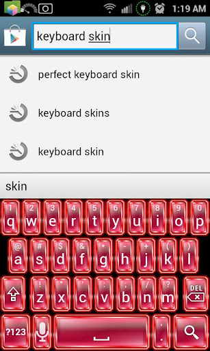 Ruby Red Keyboard Skin