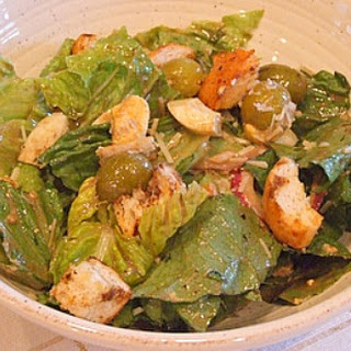 Caesar Salad with Balsamic Dressing and Parmesan Croutons