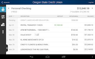 Screenshot of Oregon State Credit Union