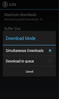 Screenshot of Android Download Manager(ADM)