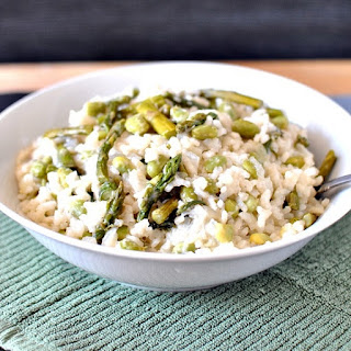Spring Risotto with Fresh Asparagus and Edamame
