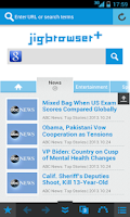 Screenshot of jigbrowser+ - Fast Tab Browser