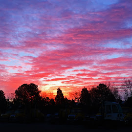 Red Sky In The Morning by Roy Walter - Instagram & Mobile iPhone ( clouds, sky, cell phone, sunrise, iphone, mobile )