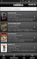 Screenshot of Cinemax India