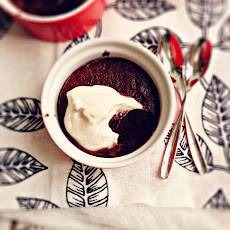 Flourless Banana-Chocolate Pudding Cakes with Whipped Coconut Cream