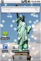 Screenshot of New York Xmas Live Wallpaper