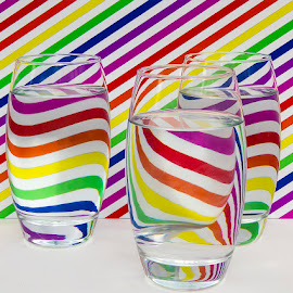 It's Just Physics by Tim Nicholson - Food & Drink Alcohol & Drinks ( abstract, water, pattern, physics, glass, lines, refraction )
